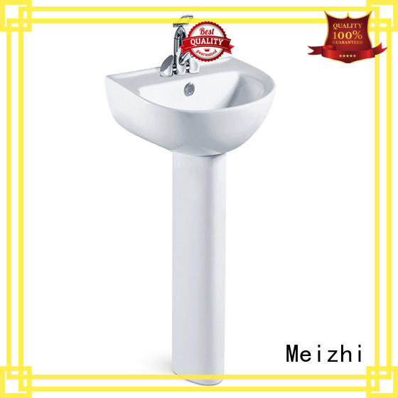 Meizhi pedestal wash basin factory for bathroom
