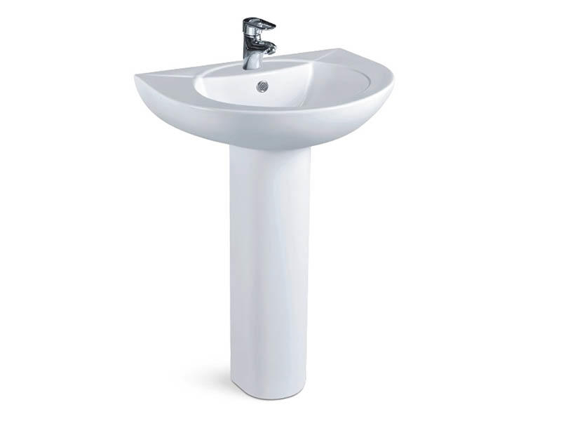 Made in china ceramic pedestal wash basin price