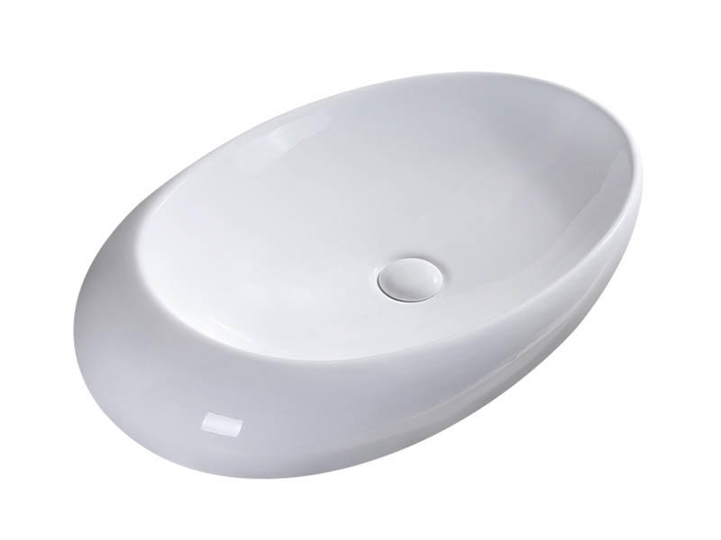 Novelty elegant bathroom egg shape basin bathroom countertop basin