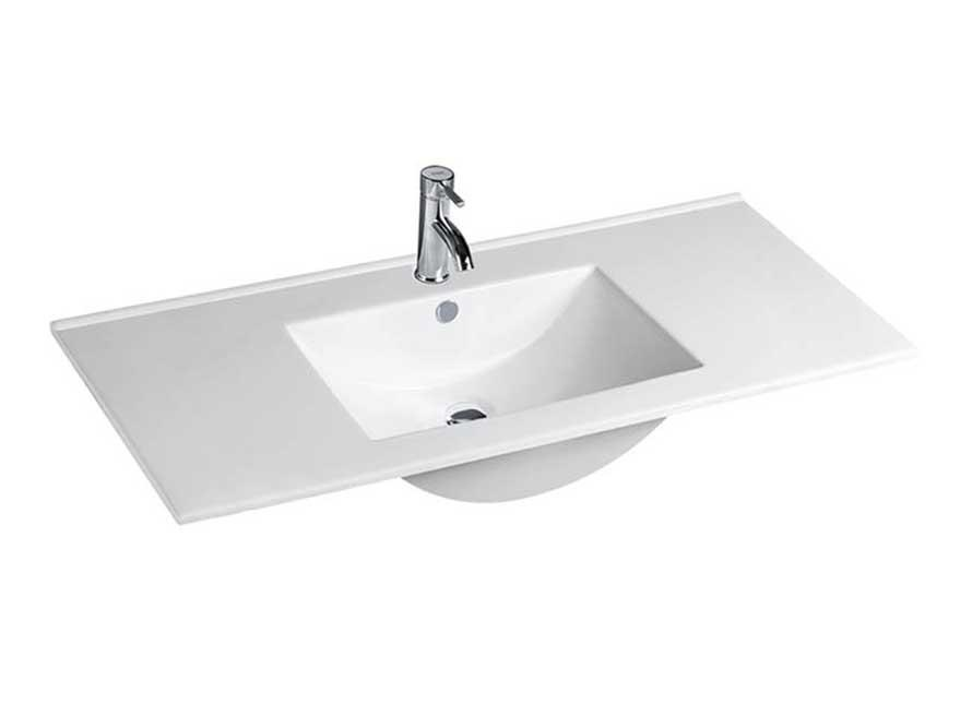 Bathroom cabinet ceramic wash hand basin