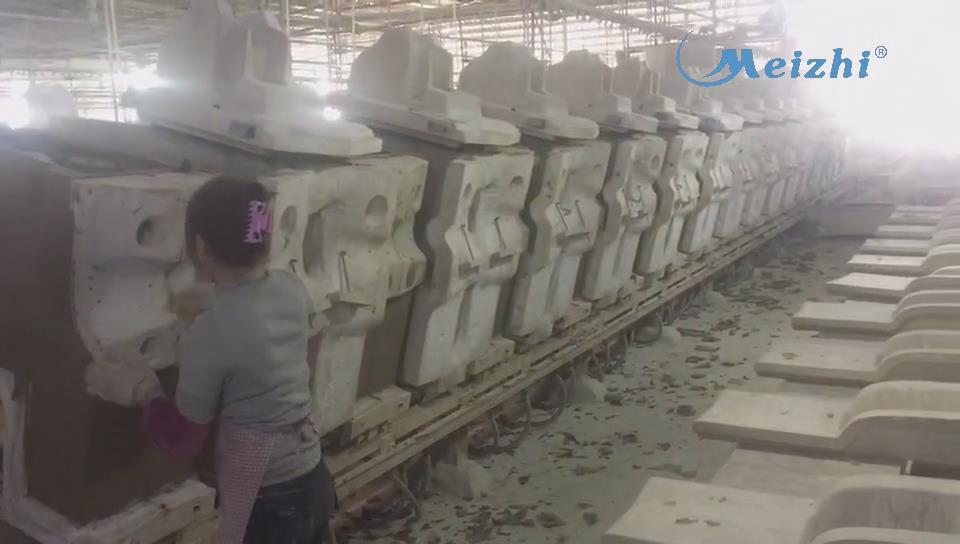 Production line of integrated one piece toilet mold manufacturing