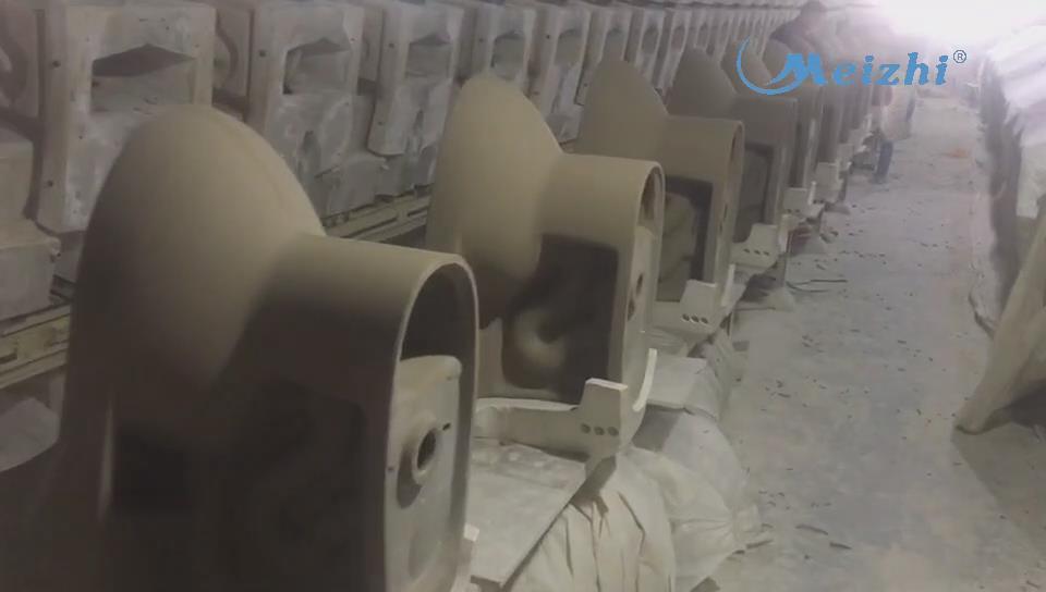 Toilet mould unloading
