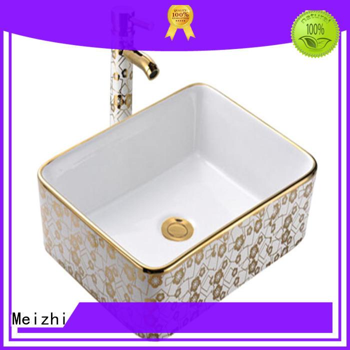 Meizhi printed round wash basin manufacturer for hotel