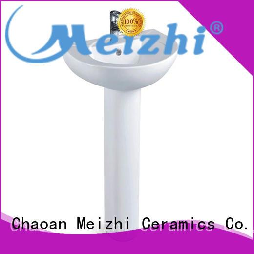 ceremic full pedestal basin factory for hotel