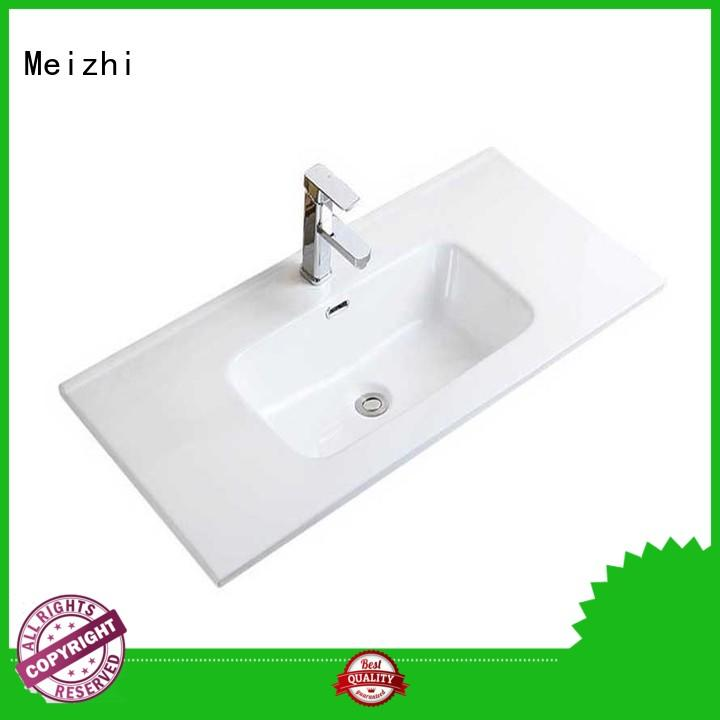 Meizhi ceramic wash basin designs with cabinet supplier for hotel