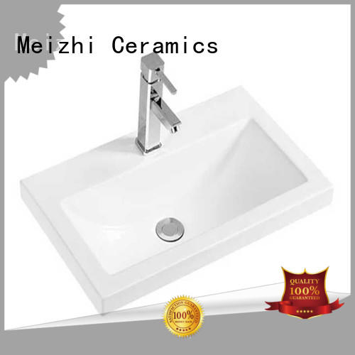 Bathroom Rectangular Porcelain Vessel Sink White Countertop Bowl Sink for Lavatory Vanity Cabinet Contemporary Style