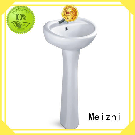 Meizhi high quality freestanding pedestal basin for hotel