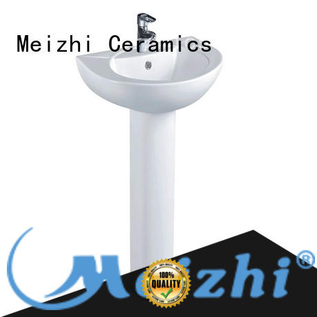 Meizhi contemporary half pedestal basin directly sale for home