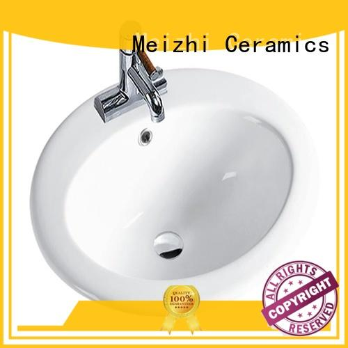 Meizhi above counter sink customized for washroom