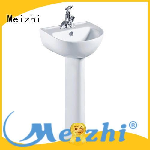 Meizhi high quality half pedestal basin customized for washroom