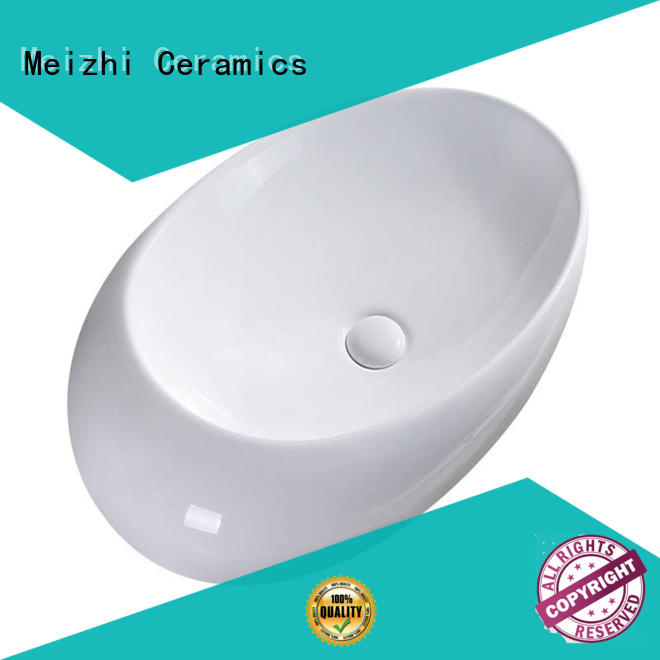 Meizhi white art basin customized for home