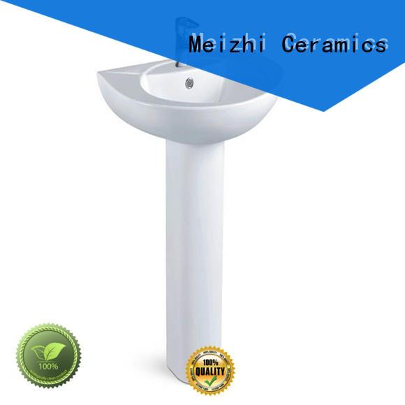 Meizhi pedestal lavatory directly sale for washroom