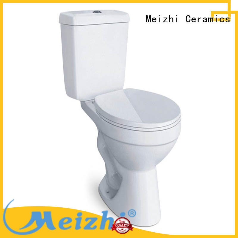 Meizhi comfortable 2 piece toilet directly sale for bathroom