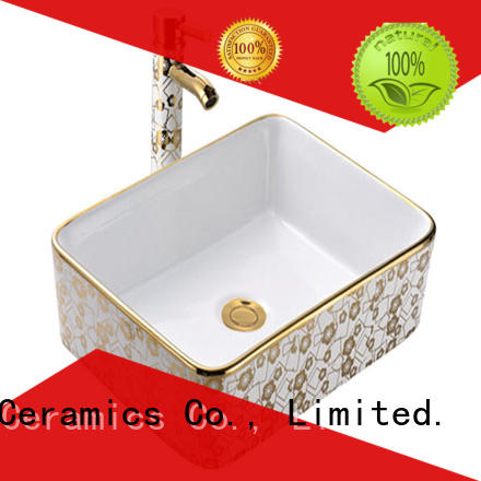 Meizhi gold wash basin factory price for hotel