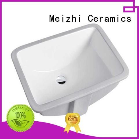 Meizhi counter top basins customized for hotel