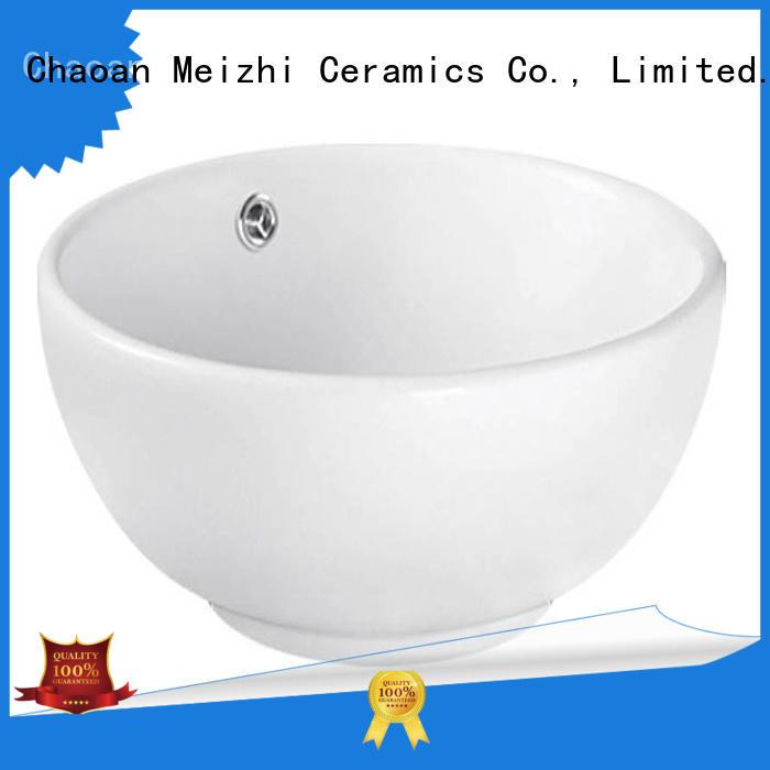 Meizhi elegant wash basin size customized for washroom