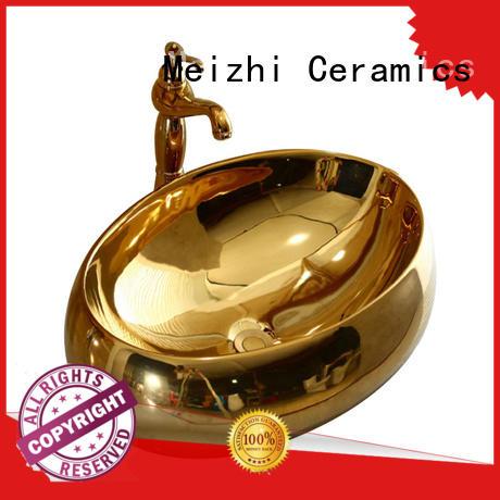 Meizhi printed ceramic basin wholesale for bathroom