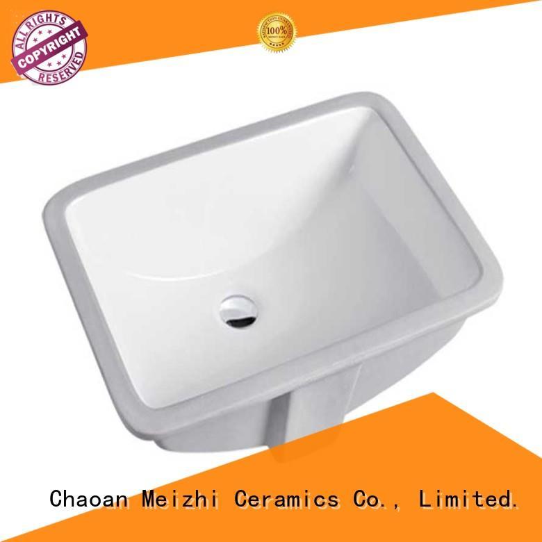 Meizhi ceramic counter top basin unit supplier for bathroom