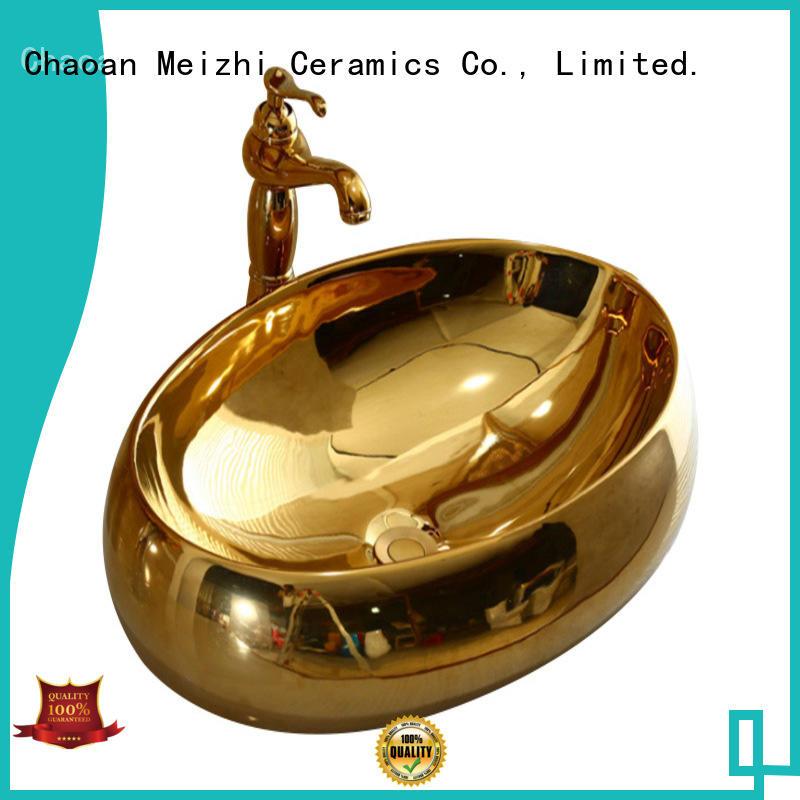 Meizhi white sink basin wholesale for hotel