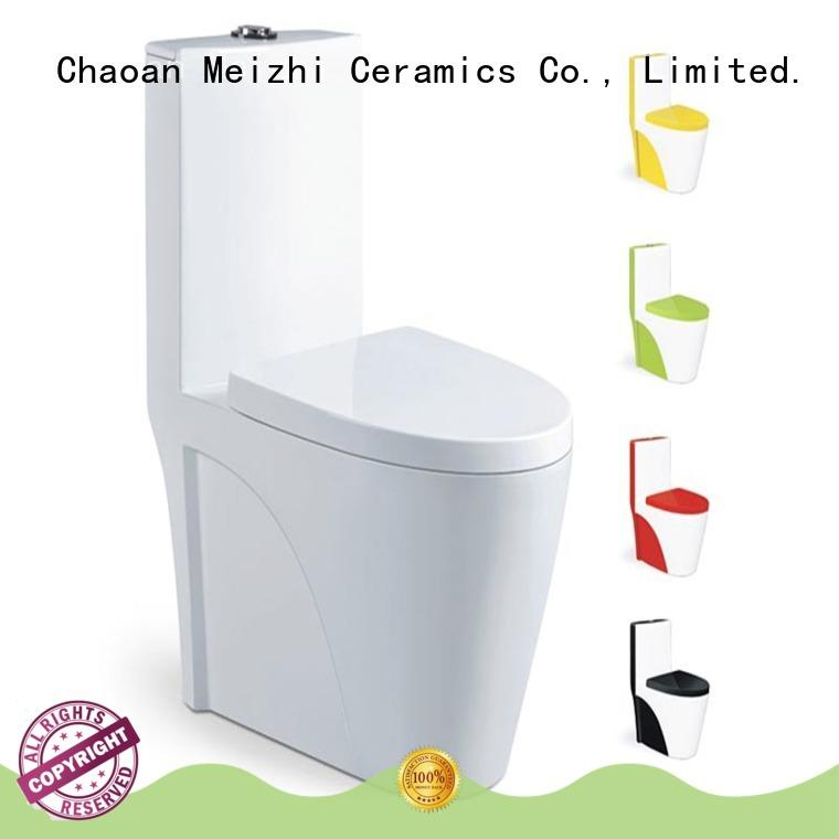 Meizhi one piece wc supplier for hotel