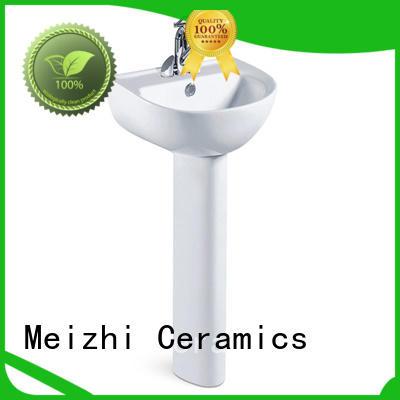 high quality full pedestal basin directly sale for bathroom