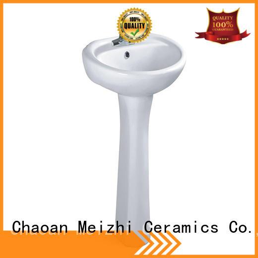Meizhi basin and pedestal supplier for washroom
