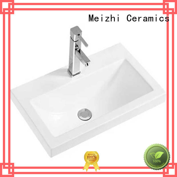 Meizhi ceramic vanity wash basin wholesale for washroom