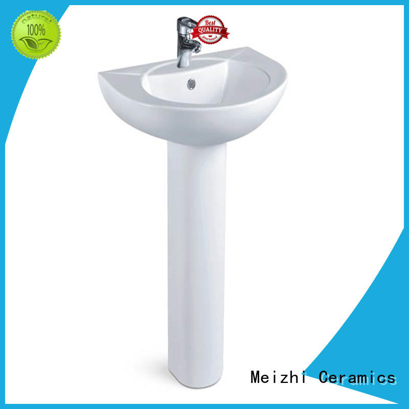 contemporary corner basin with pedestal supplier for bathroom