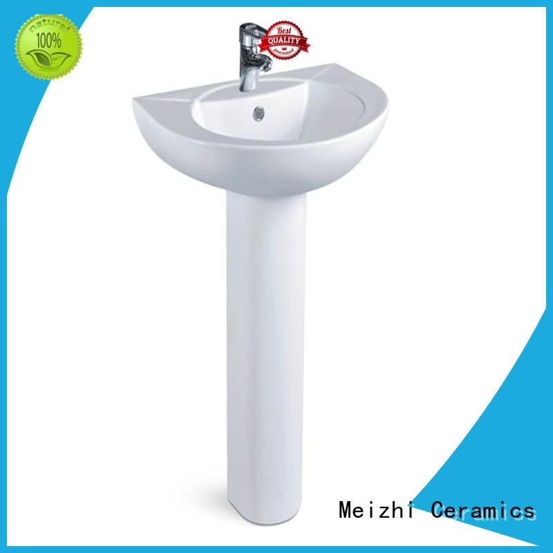 contemporary corner basin with pedestal supplier for bathroom