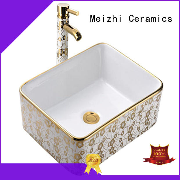 Lavatory ceramic above counter art basin sanitary ware