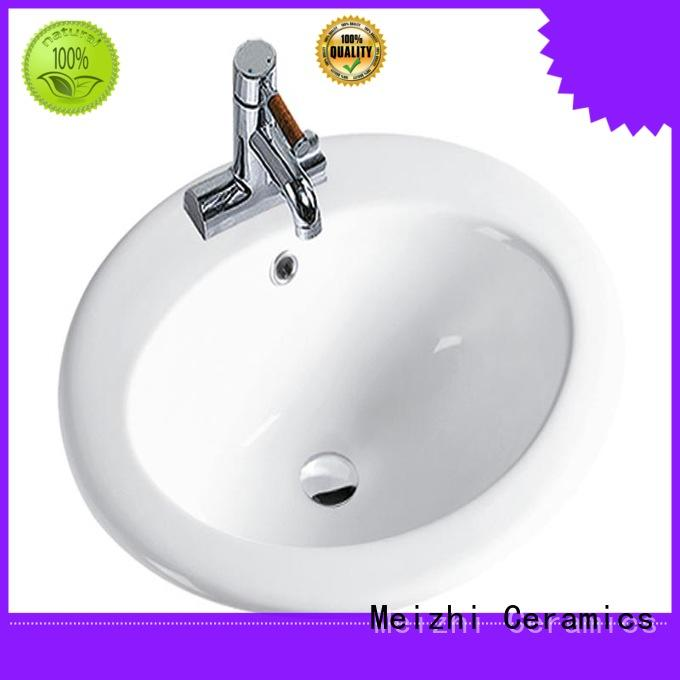 Meizhi round countertop basin directly sale for bathroom