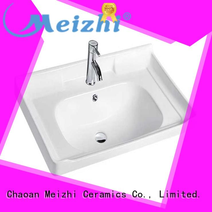 Meizhi ceramic bathroom sink and cabinet combo with good price for home