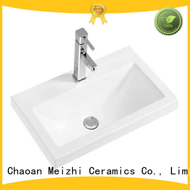 Meizhi excellent vanity basin directly sale for hotel