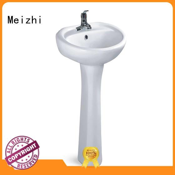 Meizhi high quality pedestal wash basin wholesale for washroom