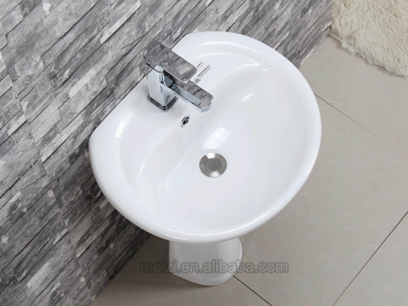 ceremic full pedestal basin customized for home-2