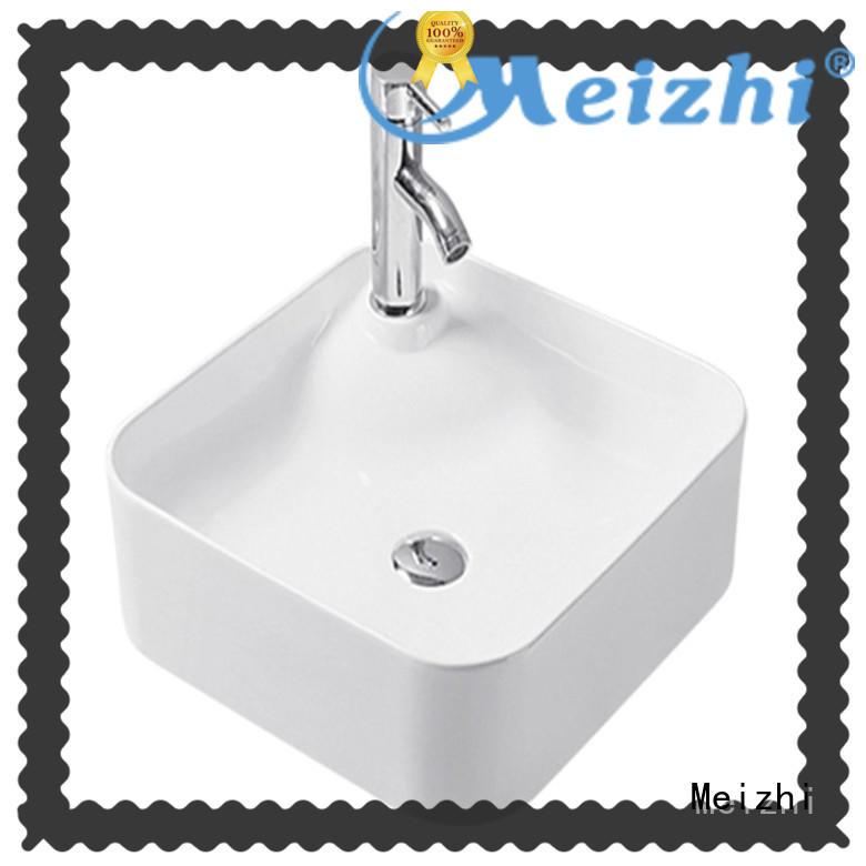 Meizhi fancy ceramic wash basin customized for hotel