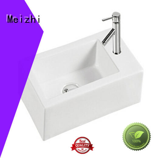 Meizhi ceramic gold wash basin supplier for washroom