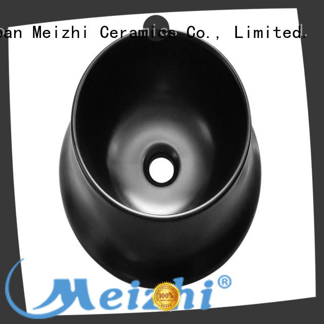 Meizhi ceramic black sink basin supplier for washroom