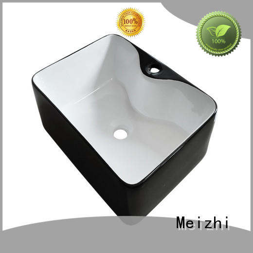 Meizhi black sink basin factory for cabinet