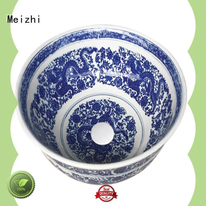 Meizhi gold ceramic basin manufacturer for home