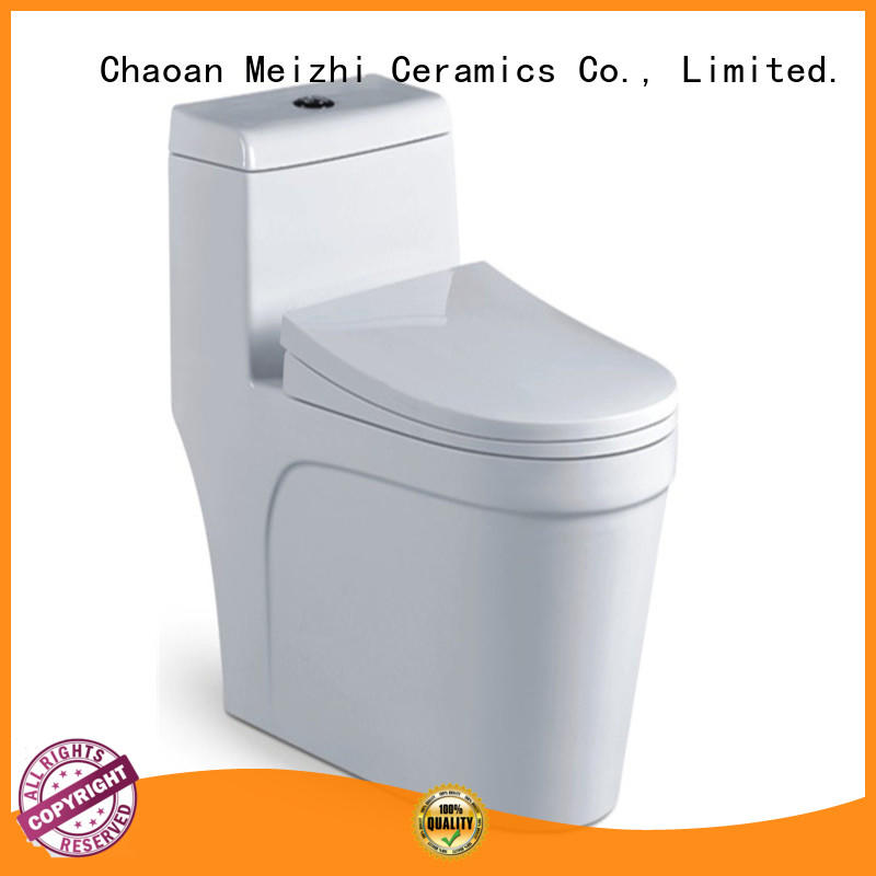 Meizhi siphonic one piece comfort height toilet customized for washroom