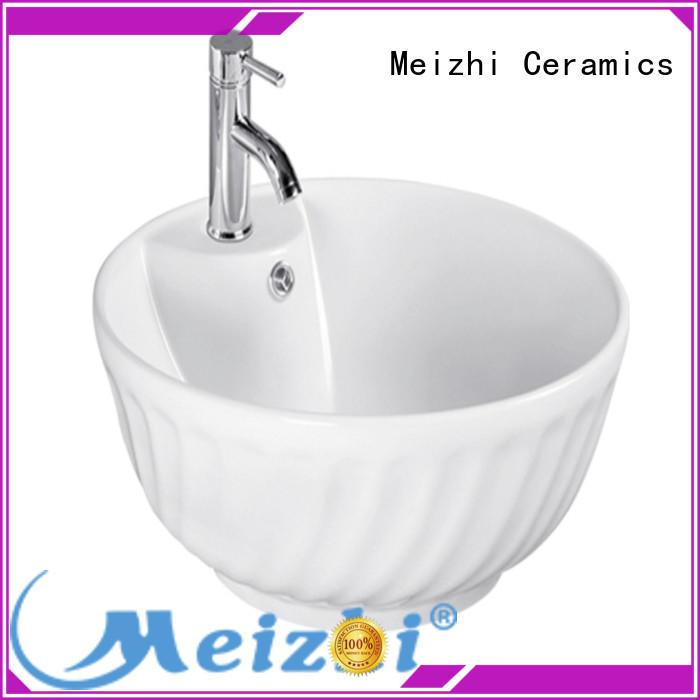 Meizhi white sink basin supplier for washroom