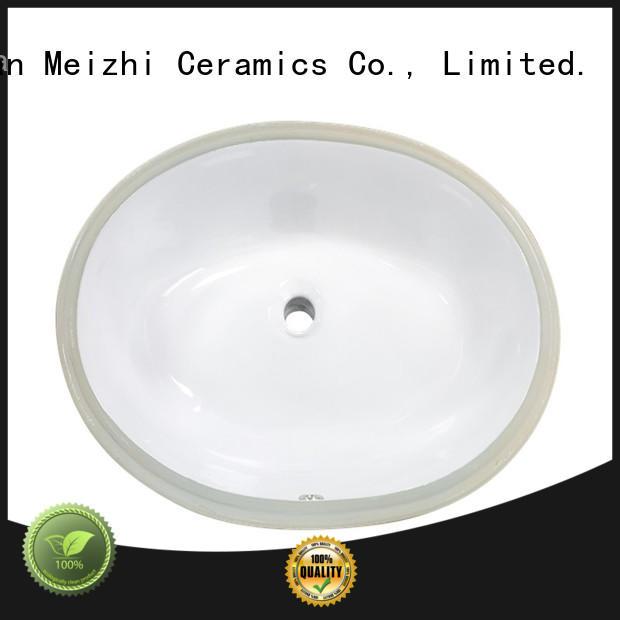 Meizhi popular counter basin manufacturer for hotel
