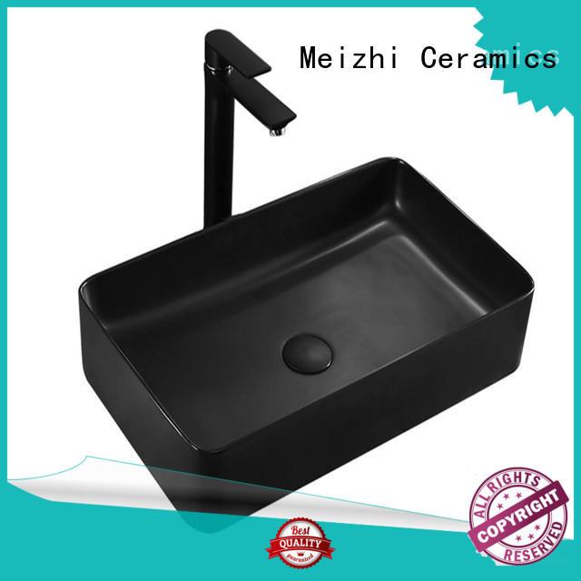 Meizhi black bathroom basin supplier for washroom
