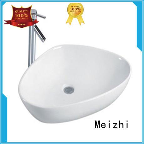 Meizhi white sink basin customized for washroom