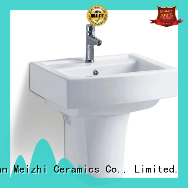 Meizhi ceramic wall hung sink with good price for bathroom