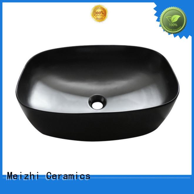 Meizhi black sink basin factory for bathroom