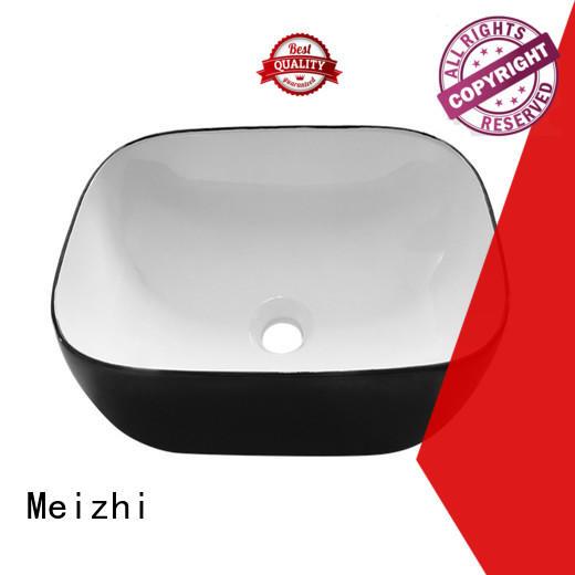 custom design black bathroom basin manufacturer for hotel