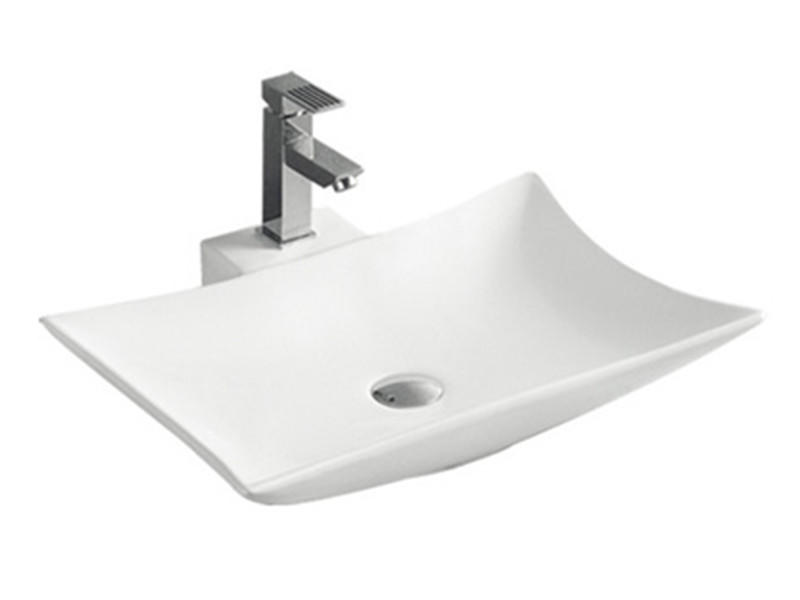 Ceramic different types of basins wash sink on the table