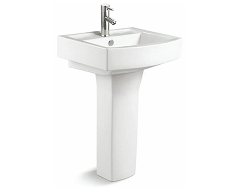 Bathroom square pedestal sink, hand wash basin with pedestal